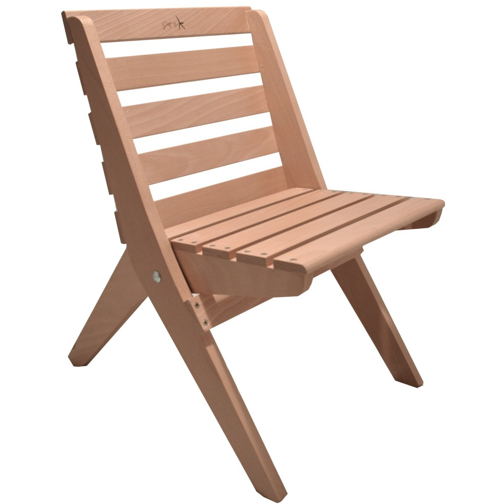 Stef Chair beech - S size, made of beech wood, uncoloured,  impregnated, optional: coloured